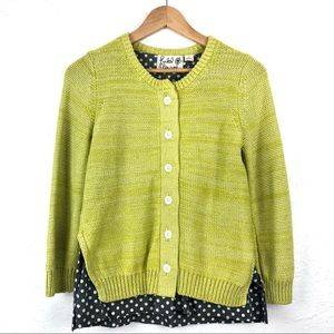 ANTHRO FIELD FLOWER Layered Cardigan Sweater Top